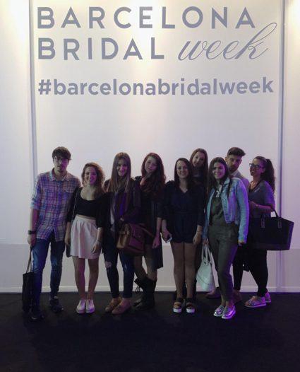 Visita de  alumnos del ICM a la pasarela nupcial BRIDAL WEEK BCN